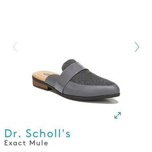 Dr. Scholl's Exact Grey Mule Flats